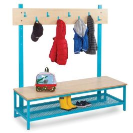 Bubblegum Cloakroom Bench with Mesh Boot Rack