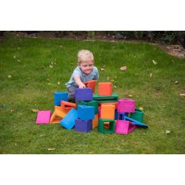 Outdoor Coloured Hollow Toy Building Blocks with Storage Tray