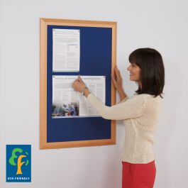Eco-Premier Noticeboard - Beech Effect Frame