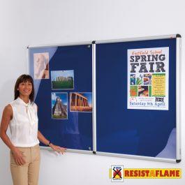 Shield Design Tamperproof Noticeboard - Resist-a-Flame - White Frame