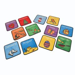 Children's Months of the Years Placemat Rugs