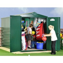 Asgard School Outdoor Secure Metal Storage Shed Pack 2