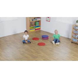 Early Years Indoor and Outdoor Circular Floor Cushions - Pack of 10
