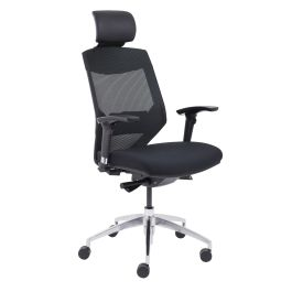 Vogue High Back Chair With Headrest - Black
