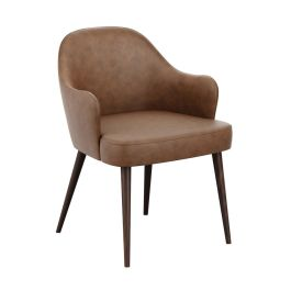 Derby Tub Armchair - Distressed Bark Faux Leather