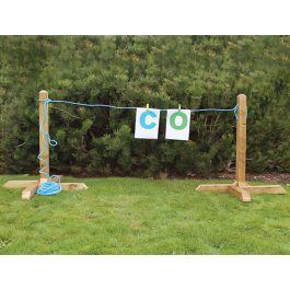 Outdoor Free Standing Children's Display Washing Line