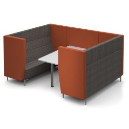 Encore Meeting Office Pod with Back Panel and Table