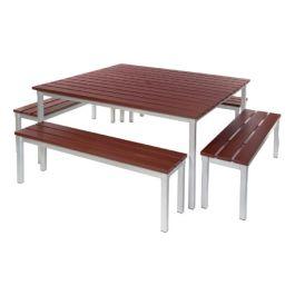 Gopak Enviro Outdoor Table & Bench Set 3