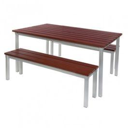 Gopak Enviro Outdoor Table & Bench, Set 1, 1250x900mm