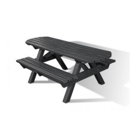 Heavy Duty Recycled Plastic Picnic Bench With Extended Top