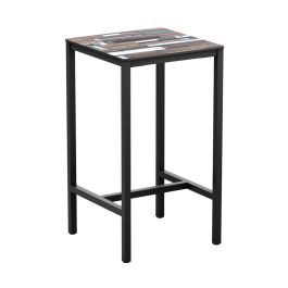 Outdoor Industrial Style Bar Poseur Table - Extrema Driftwood
