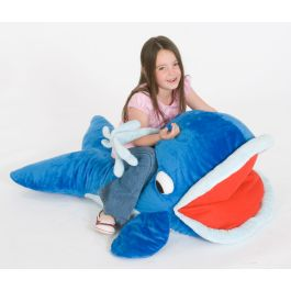 Under the Sea Moby Whale Giant Floor Cushion