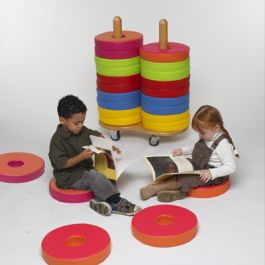 Donut Multi Seat Trolley Including 24 Bi Colour Floor Cushions