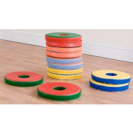 Bi Colour Donut Floor Cushions - Set of 12
