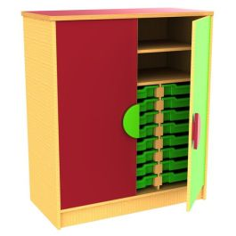 Funky Classroom Storage Cupboard with Trays/Shelves
