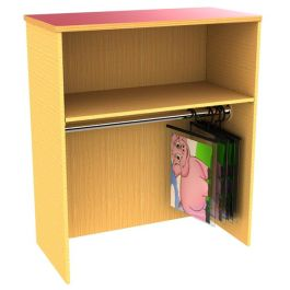 Funky Early Years Storage with Hanging Rail Shelf