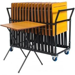 Zlite Economy Exam Desk Deal - 25 Exam Desks + Storage Trolley