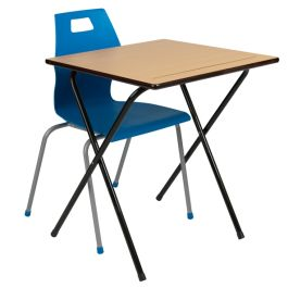 Zlite EXAM DESK PACKAGE OFFER - 50 Exam Desks + 2 Storage Trolleys