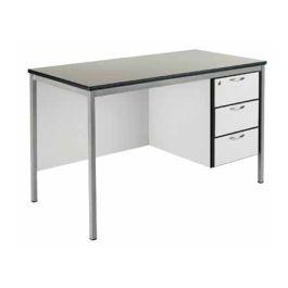 Fully Welded Teachers Desk, PU Edge, 3 Draw