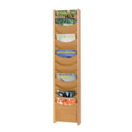 Oak Wall and Freestanding Literature Dispenser