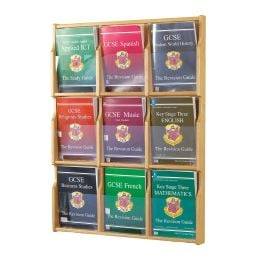 Oak Deluxe Wall Mounted Leaflet Dispenser
