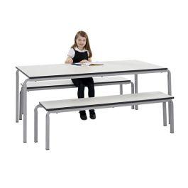 Gala bistro Trespa table and bench set