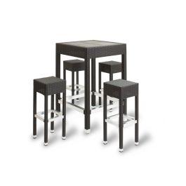 IZZI Outdoor Wicker Weave Poseur Table & Stool Set