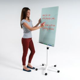 WriteOn Glass Flipchart Easel