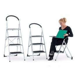 Folding Step Ladder Rubber Handle