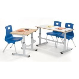 HA200 Crank Handle Height Adjustable Table -  MDF Edge