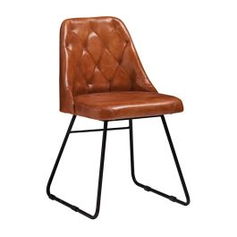 Harland Bruciato Leather Side Chair