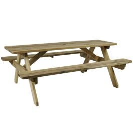 Next Day Delivery Wooden Picnic Table - Hereford 6 Seater