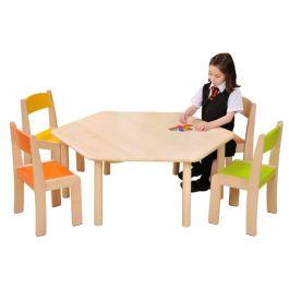 Children's Natural Beechwood Hexagonal Classroom Table