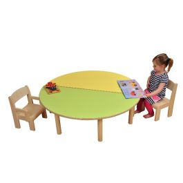 Childrens Semi Circle Wooden Classroom Table