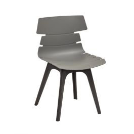 Hoxton Polypropylene Bistro Side Chair - Black Poly Frame