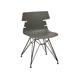 Hoxton Polypropylene Bistro Side Chair - Black Lattice Wire