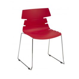 Hoxton Polypropylene Bistro Side Chair - Skid Frame