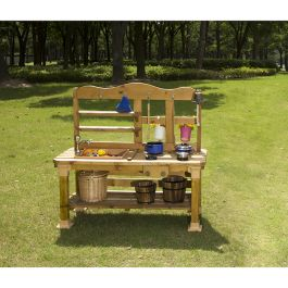Outdoor Pinewood 4 in 1 Messy Play Kitchen Set