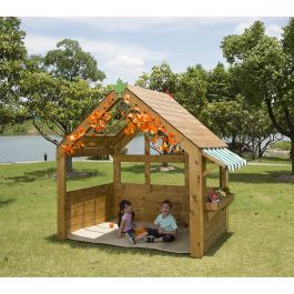 Outdoor Reading and Role Playhouse with Chalkboard