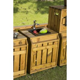 Outdoor Pinewood Messy Play Kitchen Sink