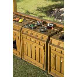 Outdoor Pinewood Messy Play Kitchen Oven
