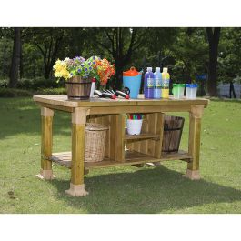 Outdoor Pinewood Messy Play Workbench