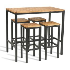ICE Outdoor Industrial Style Bar Table & Stool Set