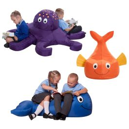 Sea Life Creatures Bean Bag Set - Octopus, Fish and Whale