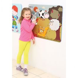 Childrens Tactile Animal Textures Wall Play Panel