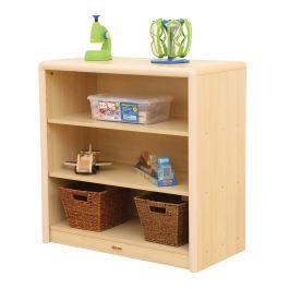 Elegant 3 Shelf Maple Storage Cabinet