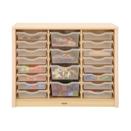 Elegant Small and Large Maple Tray Cabinet