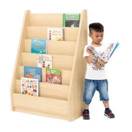 Elegant Tall Single Sided Maple Bookcase