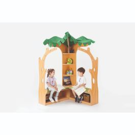 Wooden School Tree House Library Corner