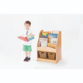 Zona Children's Wooden Book Display and Double Sided Storage